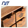 Caisse fabriquée à la main en bois pure en bois de mémoire de tiroir de quatre cas