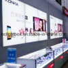 Diodo emissor de luz da loja do telemóvel que anuncia a caixa leve