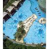 Het blauwe Mozaïek van het Glas voor de Tegel van het Zwembad