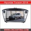 Reproductor de DVD especial del coche para Hyundai Tucson 2014 con el GPS, Bluetooth. con el Internet dual de WiFi 3G del disco de la base 1080P V-20 del chipset A8. (CY-C361)