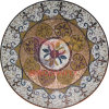 Round Floor Carpet Glass Floor Decoration Mosaic (CFD194)