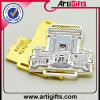 Divisa del Pin de metal con oro o plata de la galjanoplastia