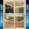 Puertas deslizantes de aluminio con el vidrio Tempered y las tiras de división