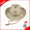 Chapéu de papel da mulher do chapéu de vaqueiro do chapéu de palha