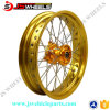 Aluminum Golden HubsのDrz125/400e Supermoto Motorcycle 17 Inch Spoked Alloy Wheels