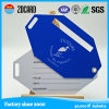 Étiquette de bagage de PVC personnalisée par qualité