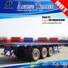3車軸50tons 40feet Flat Bed Container Trailers Truck