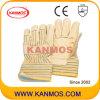 Теплые кожа с Джерси Подкладка промышленной безопасности теплая зима перчатки работы (12302)