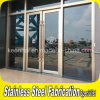 Building Entrance DoorのためのCustomed Commercial Stainless Steel Glass Door