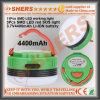 Batería de litio 3.7V4400mAh acampa impermeable de la linterna de la linterna USB Base Magnética
