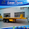 2 Flatbed Container die van assen Semi Aanhangwagen tippen