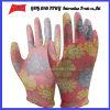 Покрынные PU трудные защитные перчатки работы Guantes (PU 1006)
