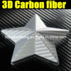 3D d'argento Carbon Fiber Vinyl Film per Car Wrap