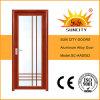 Porte a battenti più poco costose economiche della lega di alluminio della toletta (SC-AAD052)