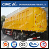 Camion à benne basculante de Shacman 8*4 avec Cimc le cadre de cargaison renforcé par Huajun