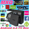 A tevê Android Box com quad-Core a tevê Box 1GB/8GB 4k Full HD 1080P Factory Price Amlogic S805 Em6q Mxq Kodi + H. 265 de Preinstalled Kodi Mxq S805 + o quadrilátero Core + Cec