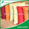 Polyster 100% elegante borda telas da camurça