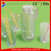Bottiglia di acqua di vetro calda di vendita 1000ml, bottiglie di vetro della spremuta, bottiglia bevente di vetro