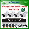Bessky Outdoor CCTV-Überwachungskamera System 4CH DVR Kits