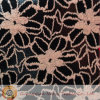 Nylon y Cotton negros Lace Fabric (M0433)