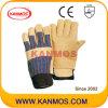 Желтый Свинья кожа с промышленной безопасности работы зимой перчатки (22304)