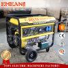 generador Hanles de la gasolina del movimiento 8kVA 4 y ruedas (8000CE)