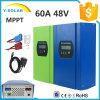 60AMP MPPT 12V/24V/48V Software+RS232 포트 태양 비용을 부과 규칙 Smart1-60A