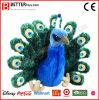 Stuk speelgoed van de Pauw van de Pluche ASTM het Realistische Gevulde Peafowl Dierlijke