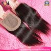 Quercyの毛のレースの閉鎖の卸売3.5X4の中間の部品の安いレースの閉鎖の在庫のまっすぐなブラジルのバージンの人間の毛髪の絹の基礎閉鎖の部分