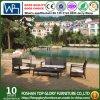 Sofá seccional de mimbre usado durable de los muebles del patio de los muebles al aire libre de la rota (TG-JW49)