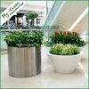 Fo9003シリンダーステンレス鋼の植木鉢、屋外プランター