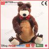 현실적 연약한 박제 동물 견면 벨벳 갈색 곰 장난감