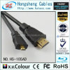 De goud Geplateerde HDMI aan HDMI Micro- Kabel van de Hoge snelheid HDMI met Ethernet