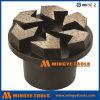 Fiche de meulage en métal de diamant de 5 segments de flèche pour le béton