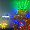 海公園ライトショーのための装飾ライトを示すクリスマス