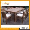 Im Freienfreizeit-stellte Aluminiumrahmen-Möbel-Rattan-Tisch mit Glas für Verkauf ein