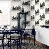 Papel pintado lavable 3D del PVC del material de revestimiento de la pared interior para la sala de estar