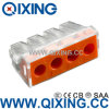 Ce 309 tipo acero de Wago de 4 cuadrillas de Stainles del alambre o conector del cobre con color anaranjado