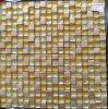 Azulejo de cristal del oro, mosaico del vidrio cristalino (HGM356)
