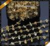 Citrine цепь провода камня обломока, ювелирные изделия цепи ожерелья медного золота (JD003)