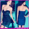 Горячее продавая платье повязки Sequin Aqua 2014 без бретелек