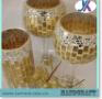 安いマルチカラーイギリス無作法なガラスモザイク蝋燭ホールダー