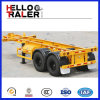 2 Radachse 20FT 40FT Flatbed Container Trailer Skeleton Chassis Trailer