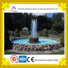 Fontaine d'eau en pierre ronde artificielle de groupe en stationnement