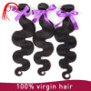 자연적인 까만 색깔 Virgin Malaysian 직물 바디 파 머리 연장