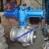 Robinet à tournant sphérique pneumatique monté par tourillon de bride d'acier de moulage d'API/ANSI