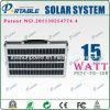 가정용 전기 제품 (PETC-FD-15W)를 위한 15W AC 100~220V PV 전원 시스템