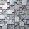Mosaïque mélangée en cristal d'acier inoxydable, décoration en cristal de mosaïque, matériau de décoration