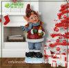 Ornement décoratif de Noël d'enfant de Noël de résine (NF14235-1)