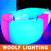 Il LED illumina in su i contatori variopinti di plastica della barra da vendere